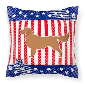 USA patriotiske Gylden Gjenerverve stoff Dekorative Pillow