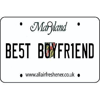 Maryland - Best Boyfriend License Plate Car Air Freshener