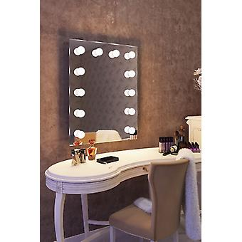 Diamond X Wallmount Hollywood Makeup Mirror with Dimmable LED k90WW