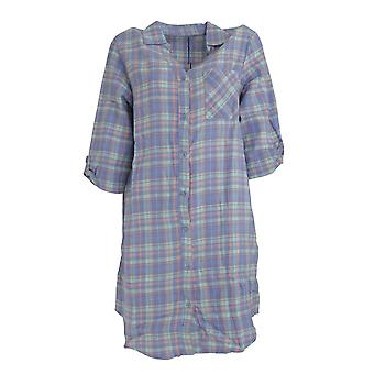 Следовать, что мечта Мужская/Женская Пряжа окрашенная проверить ночной рубашки