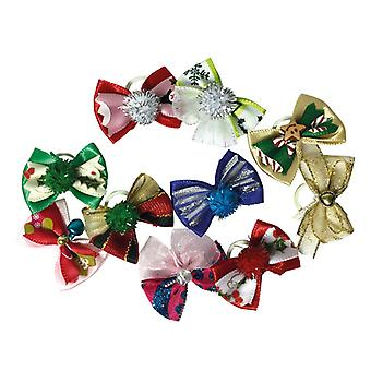 Groom Professional Luxury Christmas Bows Tarvikkeet Lemmikkieläimille - 100 Pakkaus