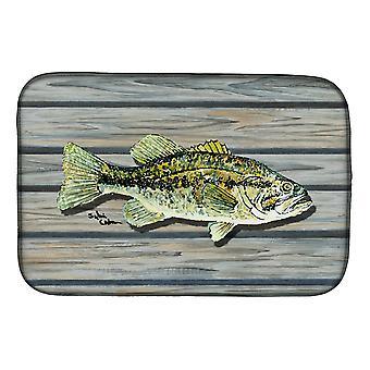 Carolines Treasures  8493DDM Fish Bass Small Mouth Dish Drying Mat