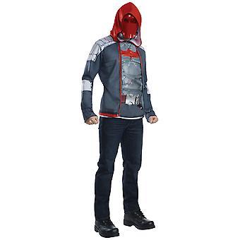 Campana roja Deluxe supervillano muscular pecho Batman Arkham traje de los hombres