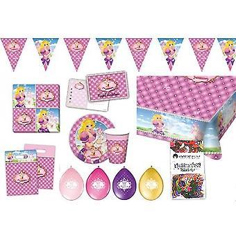 Pacote de festa de aniversário festa de princesas caixa 49 - teilig decoração pacote infantil