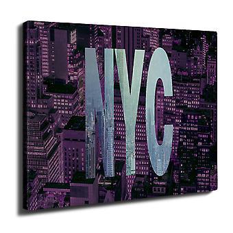 NY Foto New York USA veggen kunst lerret 40 cm x 30 cm | Wellcoda