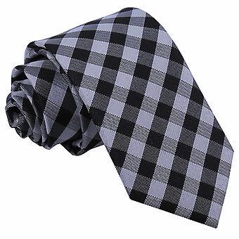 Czarny wzór wyboru wąski krawat