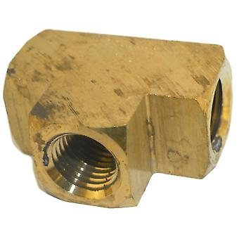 Big A Service Line 3-20140 Brass Pipe, Tee Fitting 1/4
