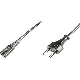 כבל שוטף דיגיטלי [1x Europlug-1x שקע מכשירים קטנים (C7)] 1.20 m שחור