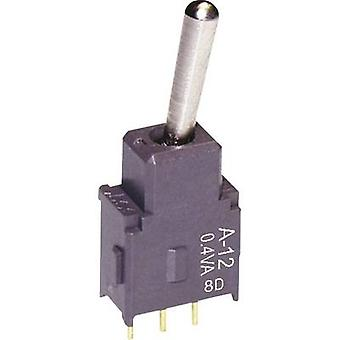 NKK Switches A12AP Toggle switch 28 V DC/AC 0.1 A 1 x On/On latch 1 pc(s)