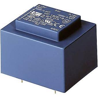 Blok VC 16/2/6 PCB montaj trafosu 1 x 230 V 2 x 6 V AC 16 VA 1.33 A