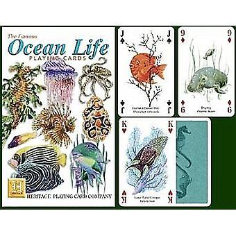 Leben im Ozean Satz von 52 Spielkarten (+ Joker)