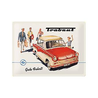 Trabant Gute Fahrt Large Embossed Metal Sign