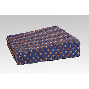 Aufstehhilfe Sitzkissen Sitzerhöhung blau-bunt 40 x 40 x 10/6 cm