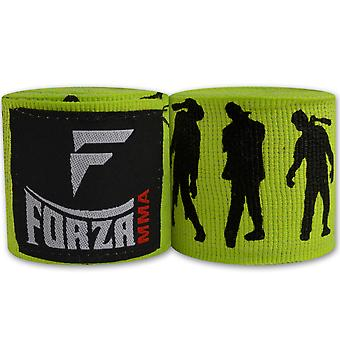 """Forza Sports 180"""" Mexican Style Boxing and MMA Handwraps - Zombie Lime Green"""