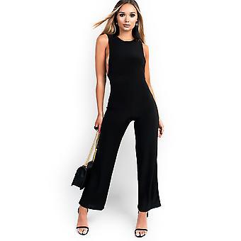 IKRUSH Womens Izabella Slinky Sleeveless Scoop Jumpsuit