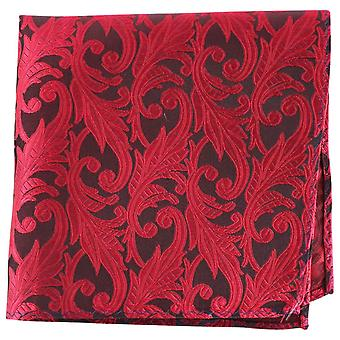 Knightsbridge Neckwear Floral Silk Pocket Square - Red