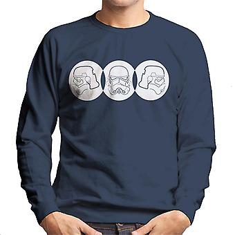 Original Stormtrooper Line Art Trio Men's Sweatshirt
