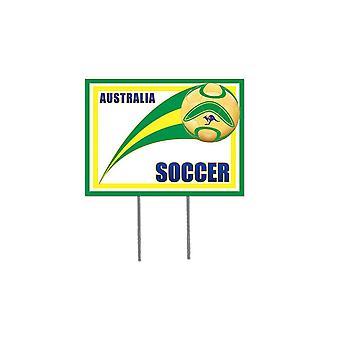 Australisk fotboll trädgård tecken