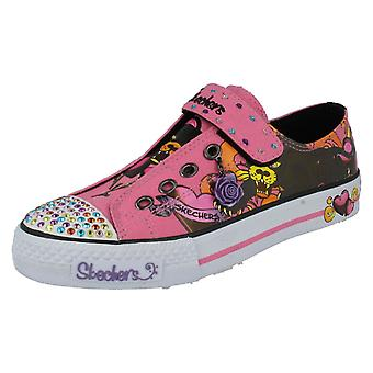 Filles, Style toile Skechers - sagesse