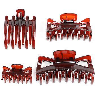 TRIXES Set van 4 assorti haar Claws-Small Medium grote en vlakke klem Grips - Styling haaraccessoires voor alle lengtes