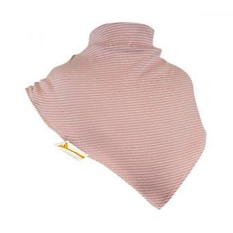 Aprikose kleine Streifen xxl bandana bib
