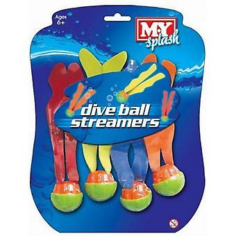 M.Y duik ballen met Streamers
