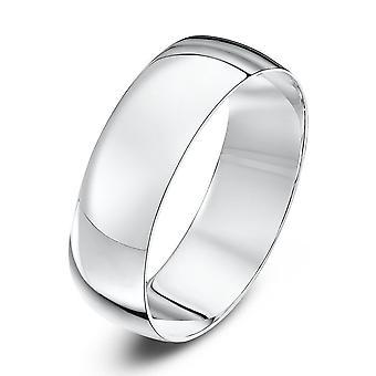 Star Wedding Rings Platinum Light D 6mm Wedding Ring