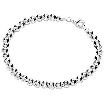 Bella 5mm Bead Bracelet - Silver