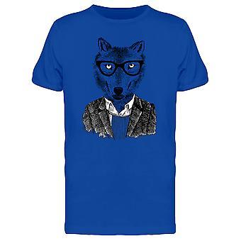 Wolf Hipster T-Shirt Herren-Bild von Shutterstock
