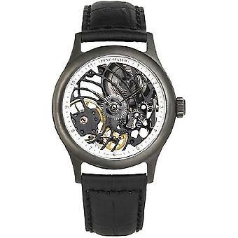 Zeno-watch montre squelette noir limited edition de taille moyenne 4187S-bk