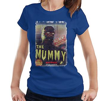 Hammer The Mummy 1959 film poster vrouwen T-shirt