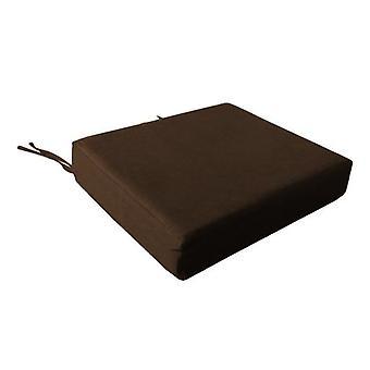 Skum stol sædepude i bomuld Cover-chokolade
