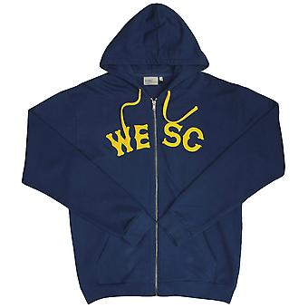 Wesc Franchise Classic Zip Up Hoodie Estate Blue