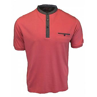 PETER GRIBBY Peter Gribby Manderin Collar T Shirt