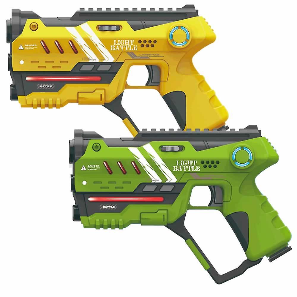 4 Anti-Cheat lasergame pistolen - geel en groen