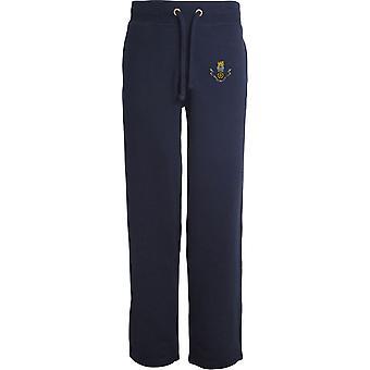 Leal Regimento-licenciado British Army bordado aberto hem Sweatpants/jogging Bottoms
