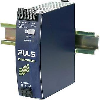 PULS DIMENSION QS5.241 Rail mounted PSU (DIN) 24 V DC 5 A 120 W 1 x