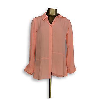 Joan Rivers Classics Collection mulheres ' s Top XXS blusa de seda rosa A288773