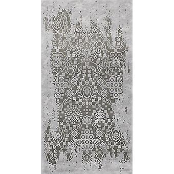 Pierre Cardin Designmatte in Acryl weiß/grau