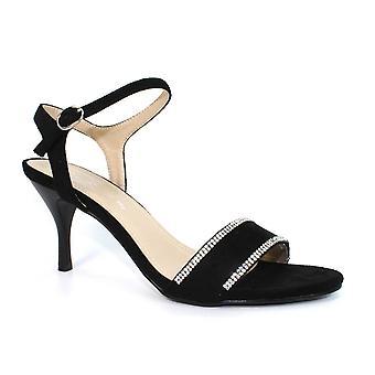 Lunar Sophia Black Strap Heel