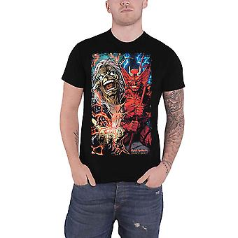Iron Maiden T shirt Legacy of the Beast dualitet band logo officiella mens svart