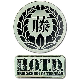 Pin Set - High School Of Dead - New Logos (Set of 2) Anime Licensed ge6665