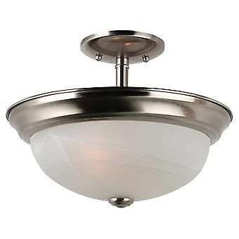 Sea Gull Lighting Windgate 2-Light Ceiling Convertible Pendant Brushed Nickel
