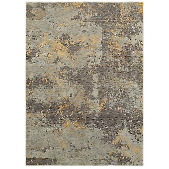Evolution 8025b grey/ gold indoor area rug rectangle 3'3