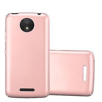 Funda Cadorabo para Motorola MOTO C PLUS Funda de caso - Hardcase Plastic Phone Case Against Scratches and Bumps - Protective Case Bumper Ultra Slim Back Case Hard Cover