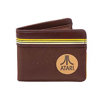 Atari Wallet Arcade Life retro Logo new Official Gamer Brown Bifold