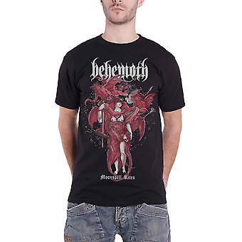 Бегемот T Рубашка Moonspell обряды Band Логотип новый официальный Мужской Черный