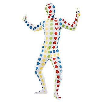 Mens Twister seconda pelle Fancy Dress Costume