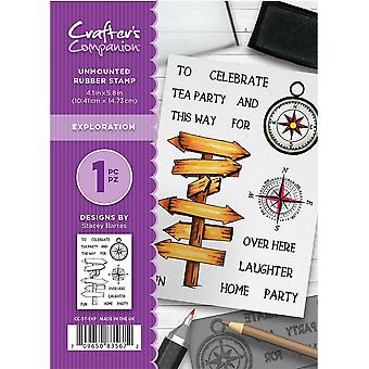 Crafter's Companion A6 Rubber Stamp - Exploration