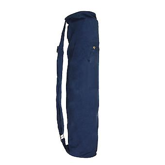 Fitness Mad Jute Bag Eco Friendly Yoga Fitness Equipment Carrier- Dark Blue